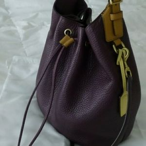 COACH LEGACY PEBBLED LEATHER DRAWSTRING BUCKET BAG
